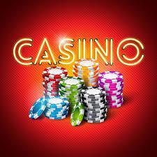Ordet casino med spelmarker